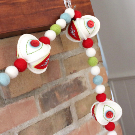 Stitched Ornament Garland 6