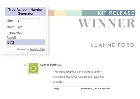 Envelope Envy Release Winner